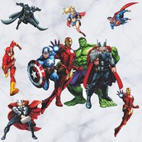 Wholesale cartoon pictures for kids for sale - Group buy 45cmx60cm avengers wall decor children cartoon wall posters for kids bedroom decoration stickers wallpaper home decor Nursery Art pictures