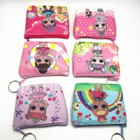 Wholesale wallet kid cartoon purse for sale - Group buy LOL doll Girls Wallet Kids lol dolls Cartoon Party Coin Purse best gift A301
