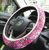 ingrosso protezione del fiore-Lily Car Copertura del volante Lilly Neoprene Flower Pattern Universale Slip Wheel Protector Protector Party Wedding Car Decoration 100 OOA6689