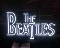 ingrosso batte il segno al neon-THE BEATLES Neon Sign Light Restaurant Pubblicità Intrattenimento Decorazione Art Display Real Glass Lampada Metal Frame 17 '' 24 '' 30''40 ''