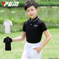 outdoor sportbekleidung groihandel-Kinder Breathable Golf-T-Shirts Jungen Kurzarm Sport Tops Outdoor-Quick-dry Soft-Golf-Kleid D0782