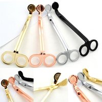 Wholesale oil lamp wick scissors resale online - 18 CM Stainless Steel Candle Wick Trimmer Oil Lamp Trim scissor tijera tesoura Cutter Snuffer Tool Hook Clipper Candle extinguisher