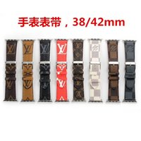 Wholesale clear watches for sale - Group buy designer watchband MM MM Luxury Leather Watchbands for Apple Watch Band mm mm iwatch bands Leather Strap Sports Bracelet