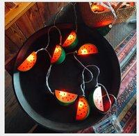 ingrosso foto dell'anguria-LED Anguria Lampada String Letteratura e arte Piccola frutta fresca Camera per bambini Piccola lampada a sospensione Foto Creative Ins Lampada decorativa