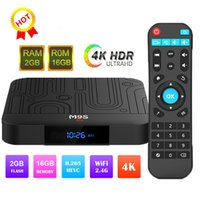 Wholesale best android set top box for sale - Group buy Best selling M9S W1 android tv box Quad Core GB GB Amlogic S905W Streaming Media Player Smart tv HD K Set Top Box Better X96 HK1 Max