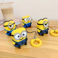 Wholesale minions for for sale – best For Apple airpods Cute D cartoon Minions silicone case covers Protective cover For airpods charging box TWS headset earphone bag
