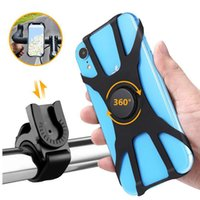 Wholesale phone holder bike online – Bicycle Phone Stand Holder Universal Rotatable Detachable Silicone Mobile Phone Bike Mounts for iPhone pro max Samsung