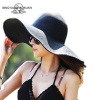 Wholesale orange floppy hat for sale - Group buy BINGYUANHAOXUAN Hot Fashion Summer Women s Ladies Foldable Wide Wide Brim Floppy Hat Beach Sun Hat Straw Cap