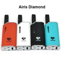 Wholesale plastic draws resale online - Original Airis Diamond Kit E Cigarette Full Kits mAh Auto Draw Battery With ml Plastic Atomizers Magnetic Connection Small Vape Box