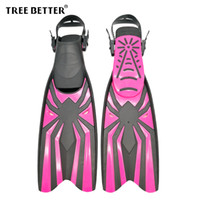 9b5b8ff5492 TREE BETTER Swimming Fins for Women Open heel long Diving Fins Professional Frog  shoes Diver Foot Flipper Snorkeling Rose Red