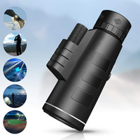 Wholesale optical monocular resale online - HD x60 Monocular Telescope Zooming Focus Green Film Binoculo Night Vision High Definition Mobile Phone Telescope with BAK4 optical prism