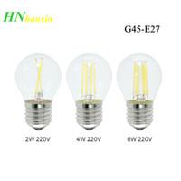 ingrosso lampade per esterni-Lampada HaoXin E27 LED Filamento dimmerabile G45 4W 8W 12W 16W Lampadina in vetro retrò Edison 220V Sostituisci i lampadari a luce incandescente