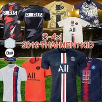 t-shirts mann xs großhandel-Fußballtrikot 19 20 PSG Fußball Jersey New MBAPPE Deutschland Jersey T-Shirt Fußball Meister Shirt Männer Kinder Sets