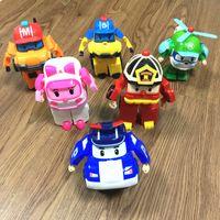 Wholesale robot paper resale online - Puzzle Children s Toys Q Version Manual Polly Deformpolice Car Polly Set Robot POli Team