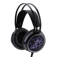 en iyi kulak mikrofonu toptan satış-AB-q3 Oyun Kulaklıklar Mic ile En Iyi Kulaklık Kulaklık Laptop için LED Işık / PS4 / Yeni Xbox kulak kulaklıklar üzerinde