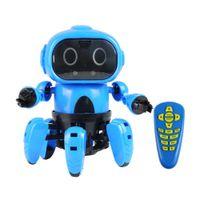 Wholesale toy semi resale online - Smart Induction legged Rc Robot Diy Unassembled Kit Electric Robot Gesture Sensor Obstacle Avoidance Kids Remote Control Toys Y190604