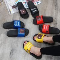 yeni model terlik toptan satış-Yaz yeni erkekler ve kadınlar çift modelleri terlik rahat moda ev kapalı kalın alt sandalet ve terlik giymek