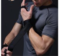 guantes de mano de nylon al por mayor-Fitness Deportes Levantamiento de pesas Guantes Silicona antideslizante Entrenamiento Medio dedo Guantes Crossfit Gimnasia Apretones Mano Protección de palma