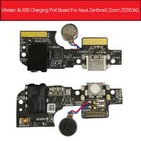 puerto de carga asus al por mayor-Vibrador de audio Tarjeta de puerto de carga USB para Asus Zenfone 3 Zoom ZE553KL Z01HD Cargador Dock Plug Conector Junta Piezas de reparación