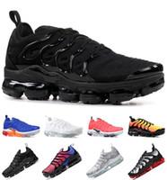 tn entrenadores negros al por mayor-Running Shoes TN Plus Para Hombres Mujeres real persa Violeta Negro voltios del arco iris uva blanqueado de Aqua Diseñador Triple Negro Trainer Sport zapatillas de deporte