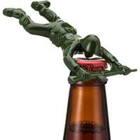 Wholesale tool dies for sale - Group buy Newest party gifts Army Man Bottle Opener Bar Tool Gift Die Cast Metal Green Beer Opener ZZA1385