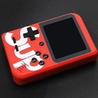 çocuk oyunları konsolu toptan satış-Sup Oyun Kutusu 400 Oyunları Retro Taşınabilir Mini El Oyun Konsolu 3.0 Inç Çocuklar Oyun Oyuncu TV Out 1 Artı Gambox Destekler