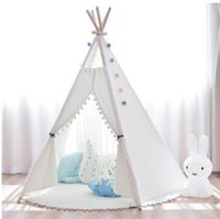 Wholesale indian tents resale online - 2020 New YARD Indian Play Tent Children Teepees Kids Birthday Gift Tipi Tent Child Gift Teepee Toy Tent Outdoor Play Playhouses