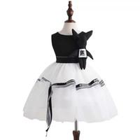 ingrosso abiti da sera in raso dei bambini-Kid Girl Doll Tulle Dress Princess Bubble Skirt Pageant Festa di compleanno Matrimonio Al ginocchio Formale Dance Evening Bambini Abiti da sera in raso