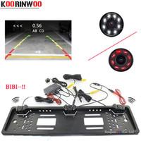 Wholesale radar camera resale online - Koorinwoo Auto Parktronic EU European Car License Plate Frame Camera Car Rear View Cam Radars Buzzer Adjustable Speaker