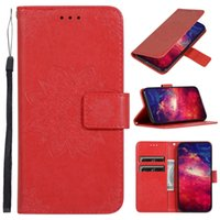 Wholesale galaxy a20 wallet case online – custom Flower Wallet Leather Case For Samsung Galaxy S20 PLUS S20 Ultra A70 A50 A30 A20 A10 Sunflower Strap ID Card Stand Skin Cover Luxury