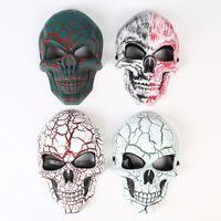 Wholesale hot masquerade masks resale online - Skeleton Horror Mask Halloween Crack Skull Mask Scream Masquerade Masks Adult Full Face Retro Party Masks HOT GGA2654