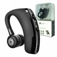 iphone kulaklık gürültüsü iptal mic toptan satış-Kablosuz Bluetooth Kulaklık V9 Handsfree KSS 5.0 Gürültü Iptal Kulaklık Iş Kulaklık Ses Kontrolü için Sürücü ile Spor Kulakiçi