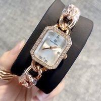 chicas delgadas al por mayor-Ultra delgada mujer de oro rosa relojes de diamantes 2019 enfermera de lujo para mujer vestidos de moda femenina reloj de pulsera regalos populares de alta calidad para niñas