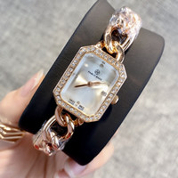 Wholesale girls watches online - Ultra thin rose gold woman diamond watches luxury nurse ladies dresses female fashion wristwatch popular high quality gifts for girls