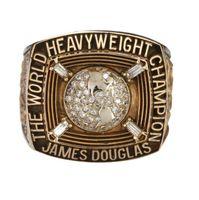 james rápidos venda por atacado-1990 James BusteR Douglas World Heavyweight campeão anéis de alta qualidade moda anel fãs melhor presente fabricantes transporte rápido