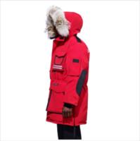 3d kanada großhandel-2018 neue Ankunft Gans Mens Designer Winter Mäntel für Frauen Kleidung Herrenbekleidung Luxus Jacken Marke Windjacke Kanada Fell Schnee Mantra