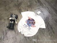 chalecos de camping al aire libre al por mayor-19SS París JADIO Y SORAYAMA amantes de los dinosaurios Camisetas de algodón Camiseta de manga corta Camiseta de verano Chaleco transpirable Camiseta exterior de manga corta