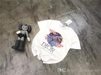 ingrosso giacche da campeggio all'aperto-19SS Paris JADIO E SORAYAMA dinosauro Lovers Tshirt in cotone Manica corta Maglietta estiva Maglietta traspirante Streetwear T-shirt outdoor