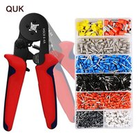 Wholesale terminal crimping pliers for sale - Group buy QUK Crimping Pliers Mini Electric Tube Terminals HSC8 A HSC8 mm Multitool Adjustable Crimping Press Pliers Hand Tools