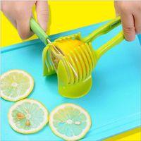 Wholesale tomatoes cutter resale online - Lemon tomato Slicer Hand held Lemon Onion Tomato Fruit Slicer Chopper Cutter Food Clips Tomato Slicer Fruits Cutter YYSY279