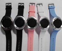 nano saatler toptan satış-Y1 Akıllı İzle Yuvarlak Keskin Destek Nano SIM Whatsapp ile Facebook İş Smartwatch IOS Android Telefon Ücretsiz Nakliye Için Itme Mesaj