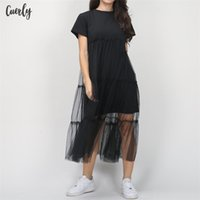 Wholesale pencil prom dresses resale online - Dress Summer Women Casual Short Sleeve Round Neck Solid Evening Party Ball Prom Cotton Dresses One Pieces Designer Clothes