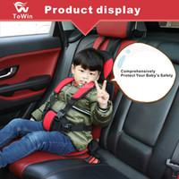 çocuklar için araba tasarımı toptan satış-Koruma Tasarım Çocuk Emniyet Kemeri Ayar Pedi Araba Arka Koltuk Çocuklar için Kalınlaşmış Rahat Koruyucu Yastık Koltuk Çocuk Tulumları Yeni
