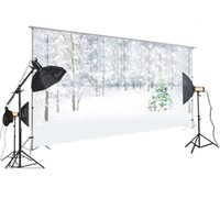 Wholesale outdoor christmas backdrops resale online - HUAYI Photography Backdrop Christmas Outdoor Winter Snow Scene Flash Snowflake Christmas Tree Background for Studio XT