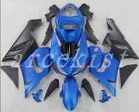 carenado encaja kawasaki al por mayor-Nuevo kit de carenados de ABS adecuado para Kawasaki Ninja 636 ZX-6R ZX6R 05 06 2005 2006 Conjunto de carrocería personalizado negro azul mate
