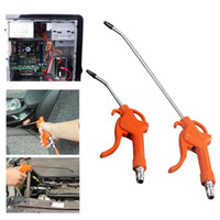 Wholesale plastic duster resale online - 50MPa Plastic Handle Air Blow Gun Cleaning Airbrush Tool Orange Angled Nozzle Air Duster Spray Gun Two Size Pneumatic Tool