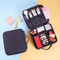 reise-make-up pinsel großhandel-Make-up Veranstalter Travel Cosmetic Box Bürste Lippenstift-Halter-Metallreißverschluss Fall Desktop-Schönheit Schmuck Container Badezimmer Lagerung