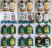 Anaheim Mighty Ducks Movie Jersey  96 Charlie Conway Jersey 9 Paul Kariya  33 Greg Goldberg 66 Gordon Bombay 99 Adam Banks Stitched 1d4a4ef9e