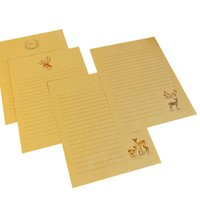 chinesische arteinladungen großhandel-10 packs / lot 260 * 185mm Chinesischen Stil Deer Serie Kraftpapier Schreiben Brief Einladung Nachricht Brief Papier Schreibwaren Großhandel