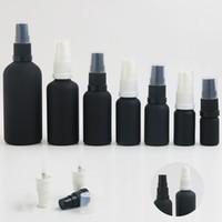özlü yağ pompası toptan satış-360x5 ml 10 ml 15 ml 20 ml 30 ml 50 ml 100 ml Uçucu Yağ Siyah Cam Frost Şişeler Için Pompa Ile Sıvı Reaktif Pipet Için Taşınabilir